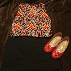 Tops - Geo pattern blouse